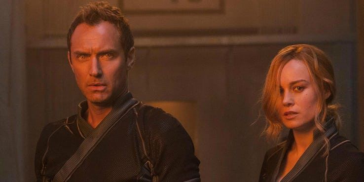 Captain-Marvel-Jude-Law-and-Brie-Larson-as-Carol-Danvers